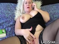 Best amorous video category lesbian (600 sec). Grandmas pussy stretched with big dildo used by lesbo girl.