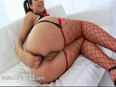 Free pornography category sexy (320 sec). Babe with shocking anus penetrated.